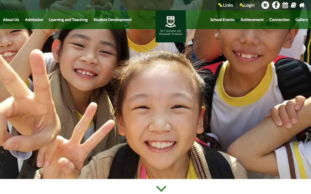 Screenshot of the Home Page of W F Joseph Lee Primary School