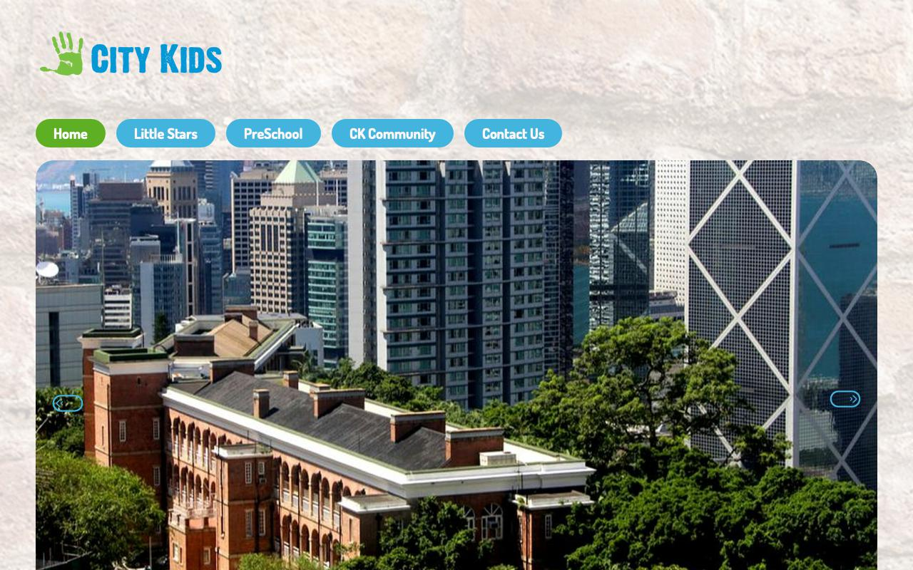 Screenshot of the Home Page of PRE-SCHOOL PLAYGROUPS ASSOCIATION - CITY KIDZ