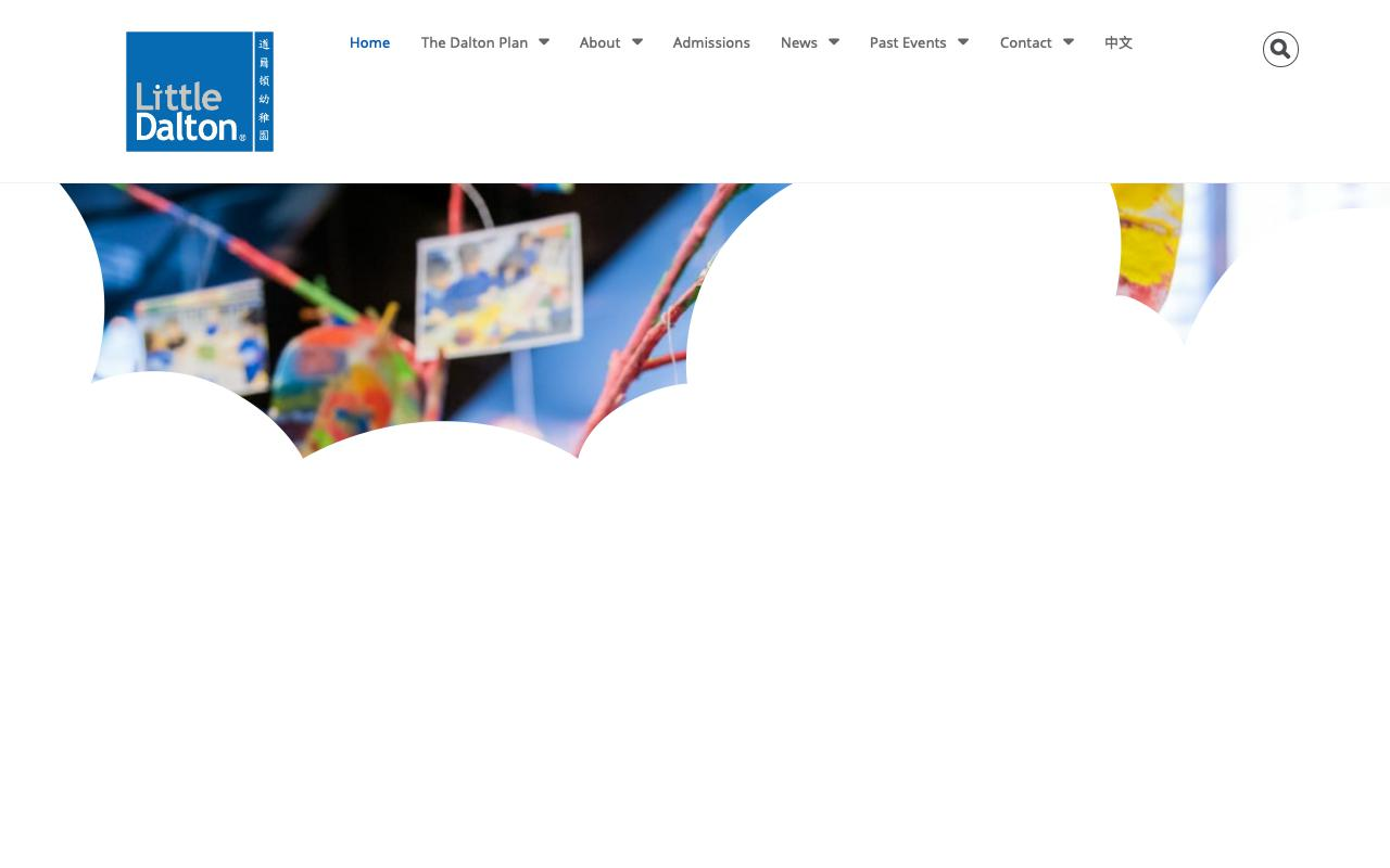 Screenshot of the Home Page of LITTLE DALTON KINDERGARTEN