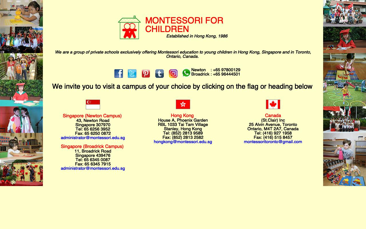 MONTESSORI FOR CHILDREN (NURSERY)-MONTESSORI FOR CHILDREN (NURSERY)