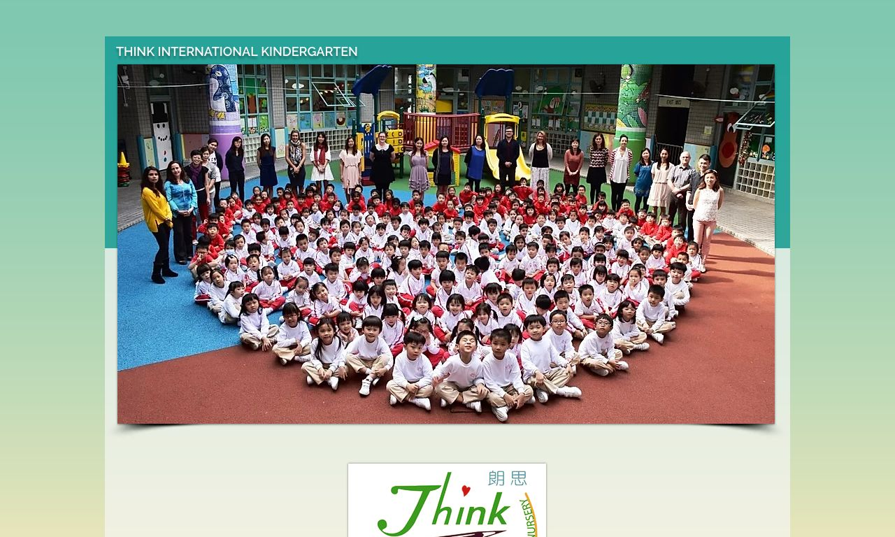 Screenshot of the Home Page of THINK INTERNATIONAL SCHOOL